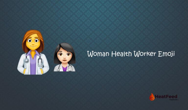 👩⚕️ Woman Health Worker Emoji