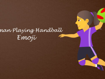 woman playing handball emoji