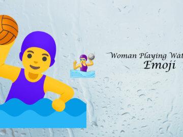 woman playing water polo emoji