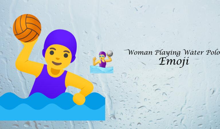 🤽♀️ Woman Playing Water Polo Emoji