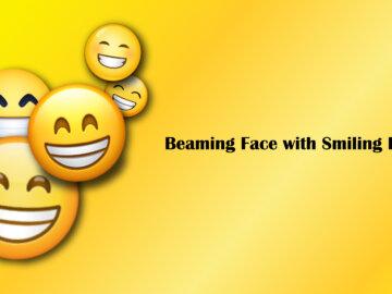 Beaming Face with Smiling Eyes Emoji