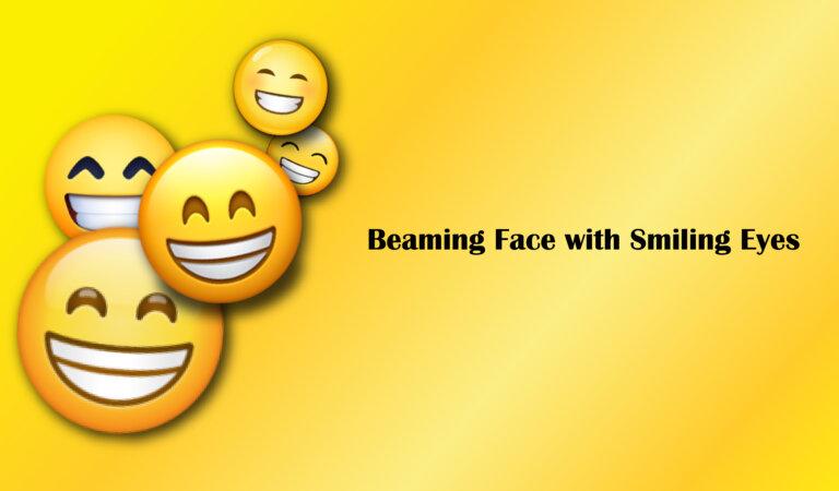 😁 Beaming Face with Smiling Eyes Emoji