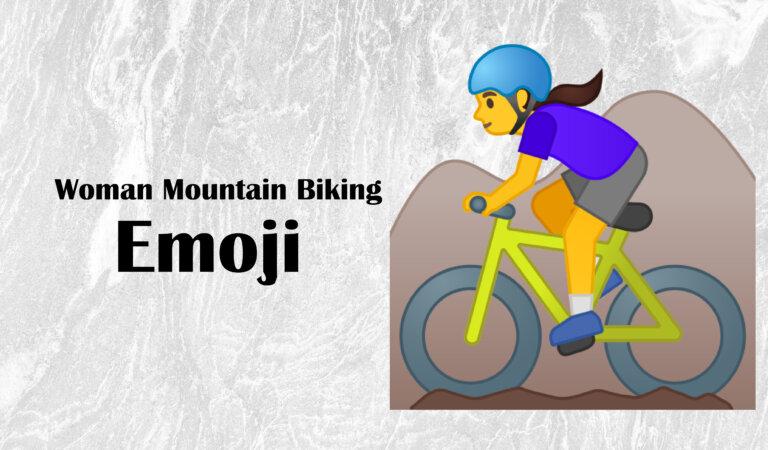 🚵♀️ Woman Mountain Biking Emoji