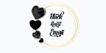 emoji cœur noir