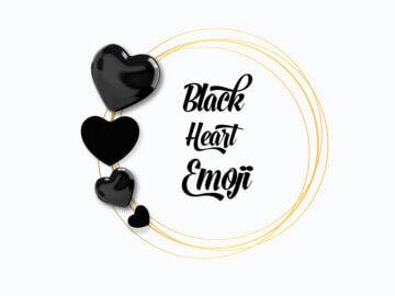 black heart emoji
