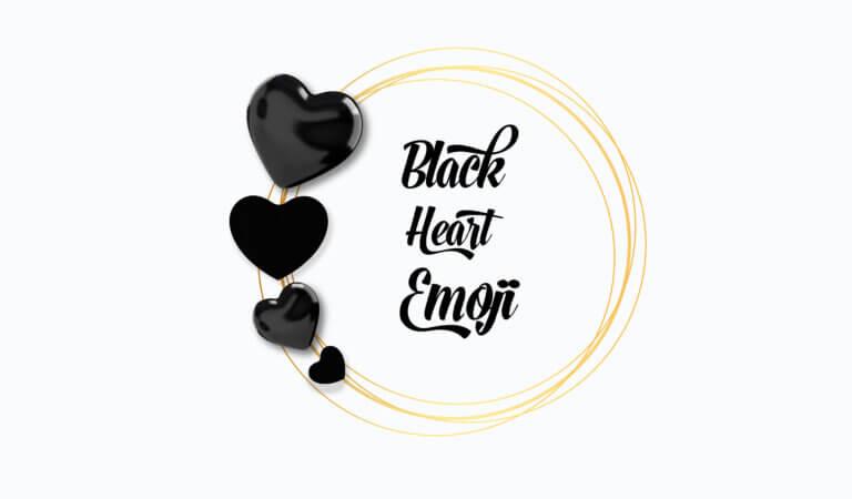 🖤 Black Heart Emoji