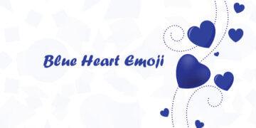 cuore blu emoji