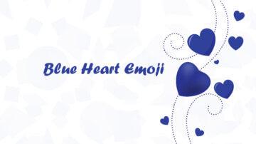 mavi kalp emojisi