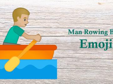 man rowing boat emoji