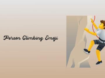 person climbing emoji