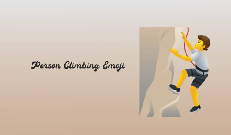 🧗 Person Climbing Emoji