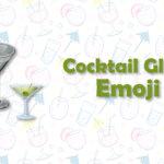 cocktail glass emoji