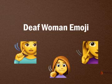 Deaf Woman Emoji