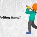 man golfing emoji