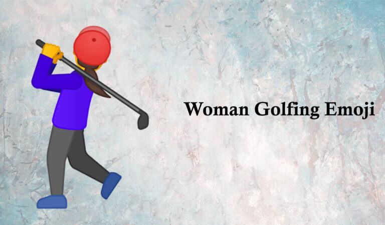 🏌️♀️ Woman Golfing Emoji