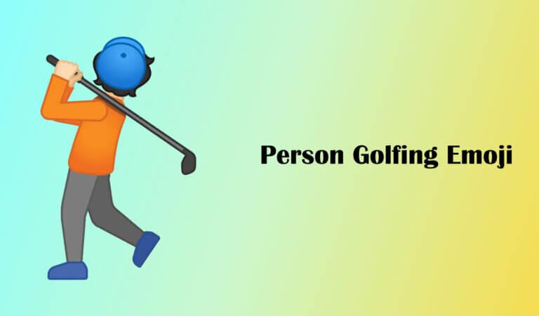 🏌️ Person Golfing Emoji