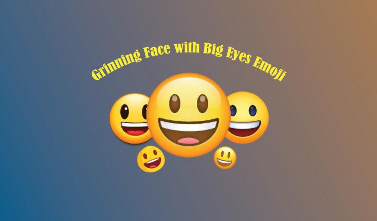 😃 Grinning Face with Big Eyes Emoji