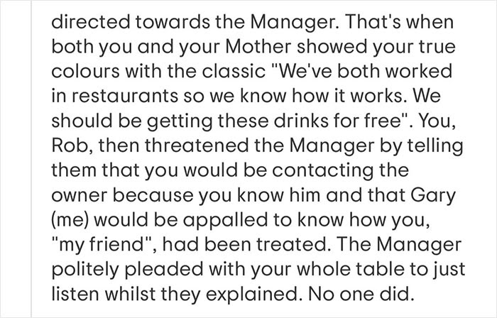 conversation with manager