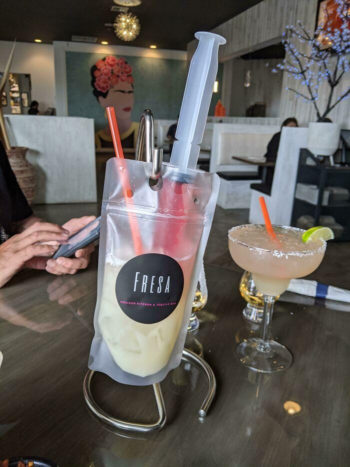 weird drink serving