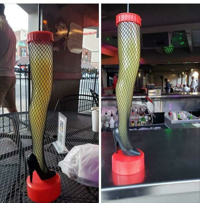 cocktail in lady shoes