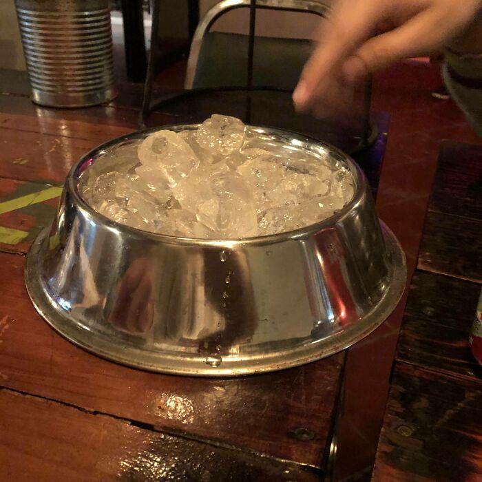 ice serving