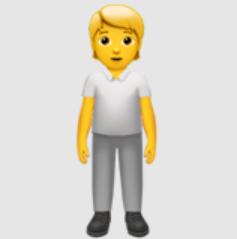 Man: Blonde Hair emoji