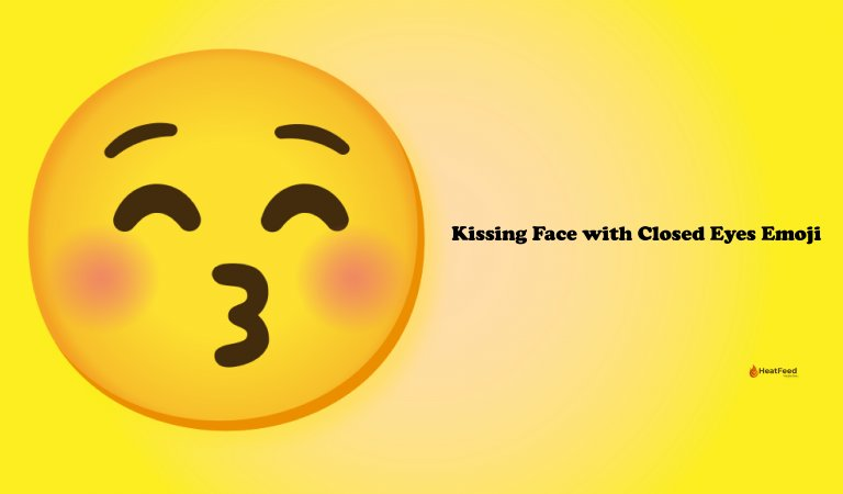 😚 Kissing Face with Closed Eyes Emoji
