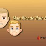 man blonde hair emoji