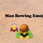 Man Bowing emoji