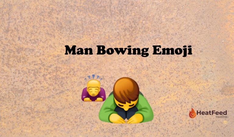 🙇♂️ Man Bowing Emoji