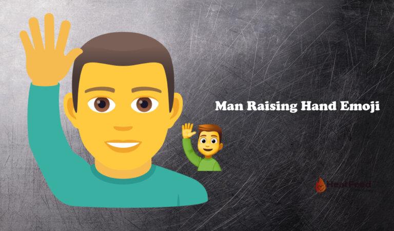 🙋♂️ Man Raising Hand Emoji