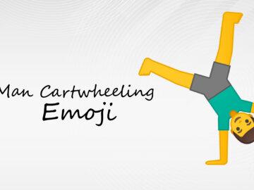 man cartwheeling emoji