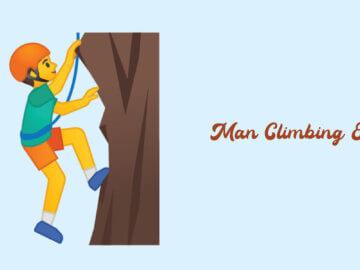 man climbing emoji
