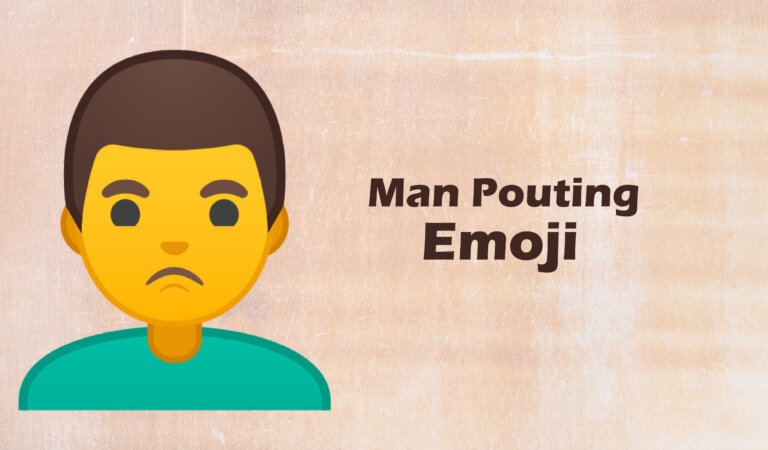 🙎♂️ Man Pouting Emoji