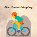 man mountain biking emoji