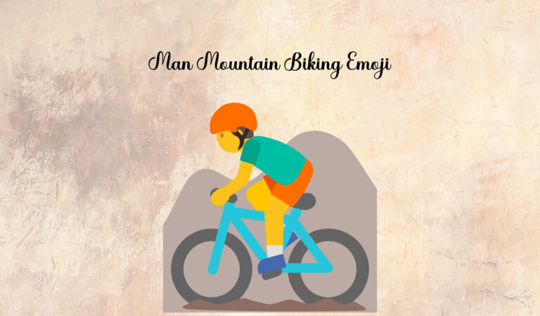🚵♂️ Man Mountain Biking Emoji