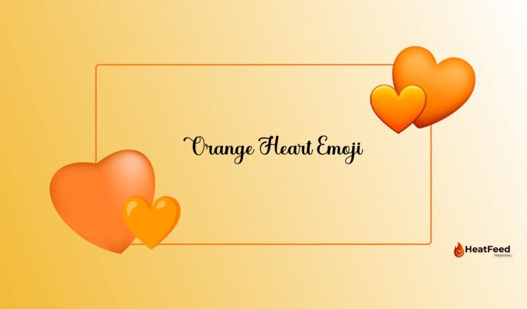 🧡 Orange Heart Emoji