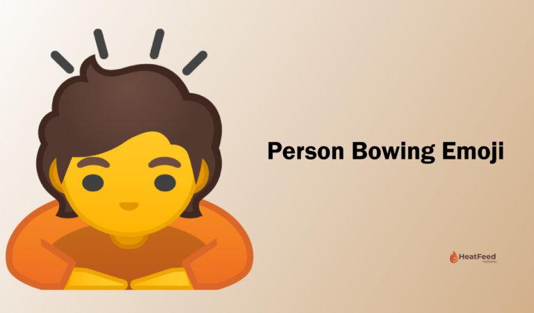 🙇 Person Bowing Emoji