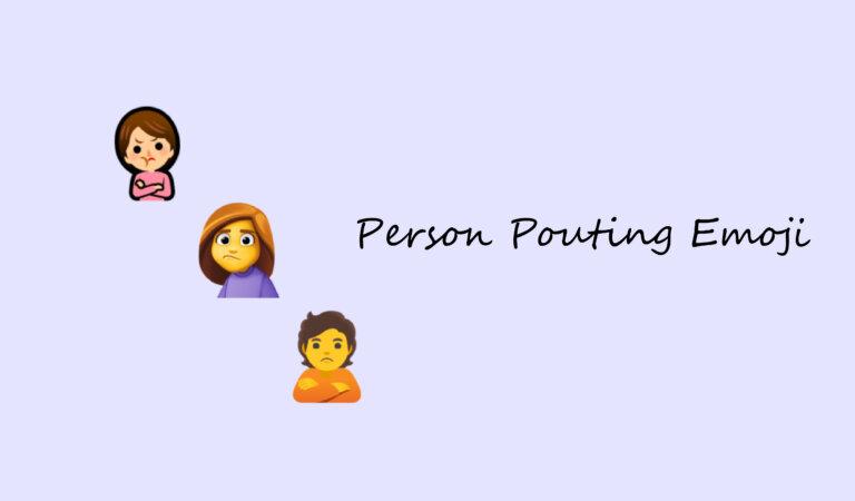 🙎 Person Pouting Emoji