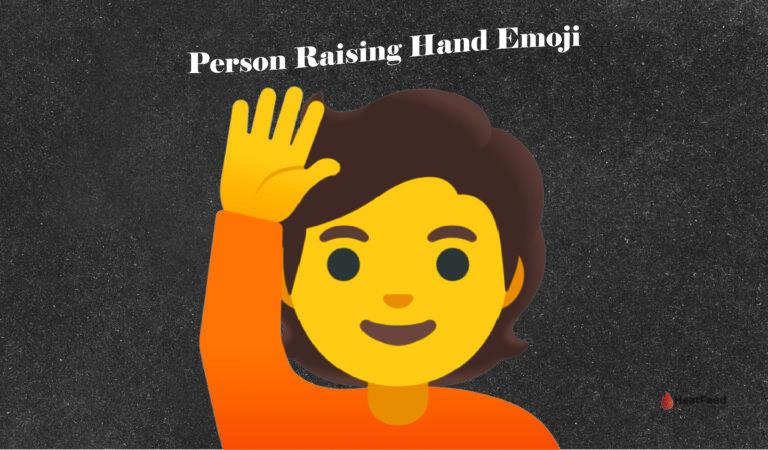 🙋 Person Raising Hand Emoji