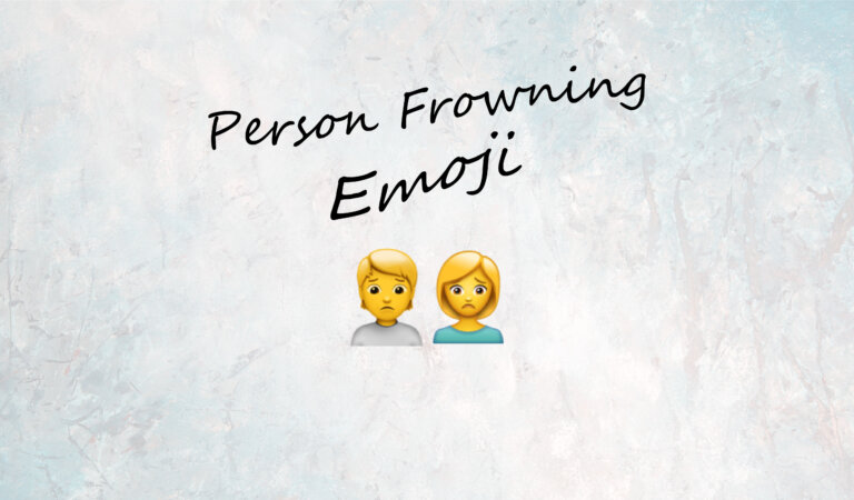 🙍 Person Frowning Emoji