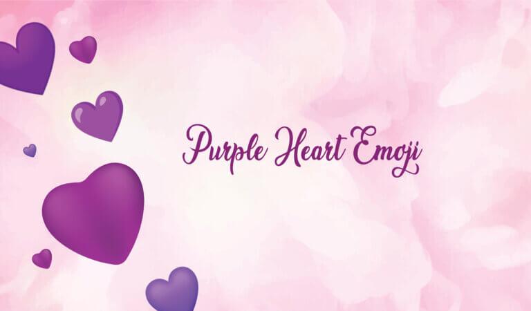 💜 Purple Heart Emoji