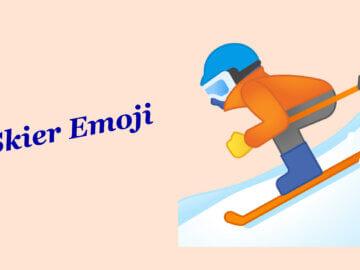 skier emoji