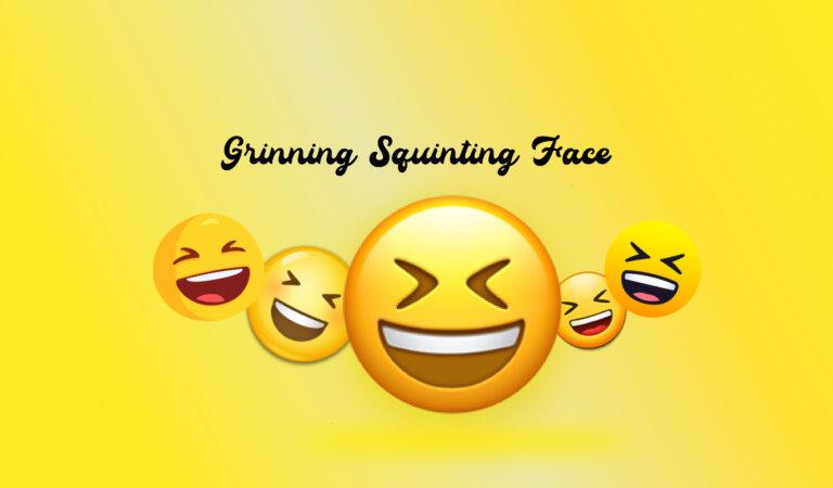 😆 Grinning Squinting Face Emoji