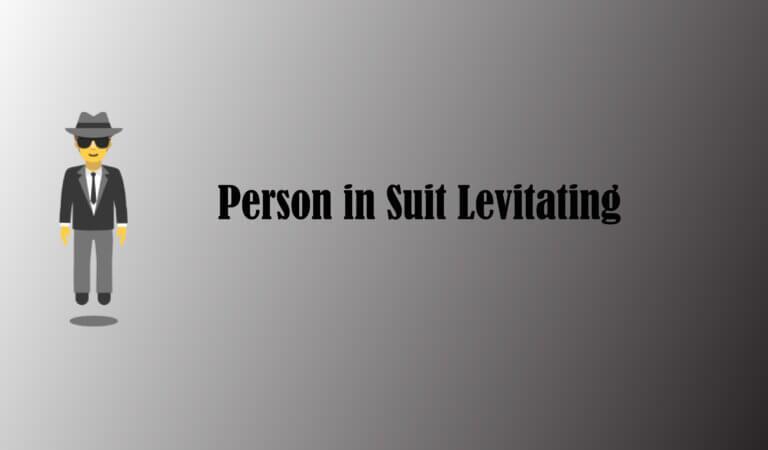 🕴️ Person in Suit Levitating Emoji
