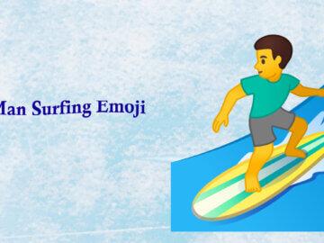 man surfing emoji