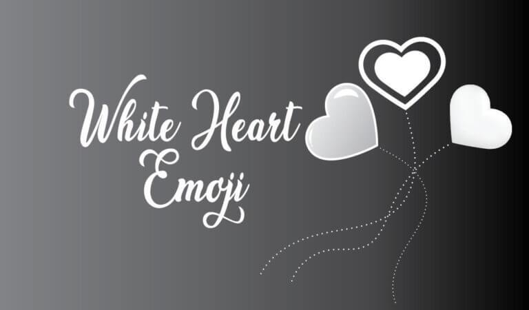 🤍 Beyaz Kalp Emojisi
