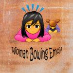 Woman bowing emoji