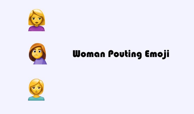 🙎♀️ Woman Pouting Emoji