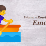 woman rowing boat emoji